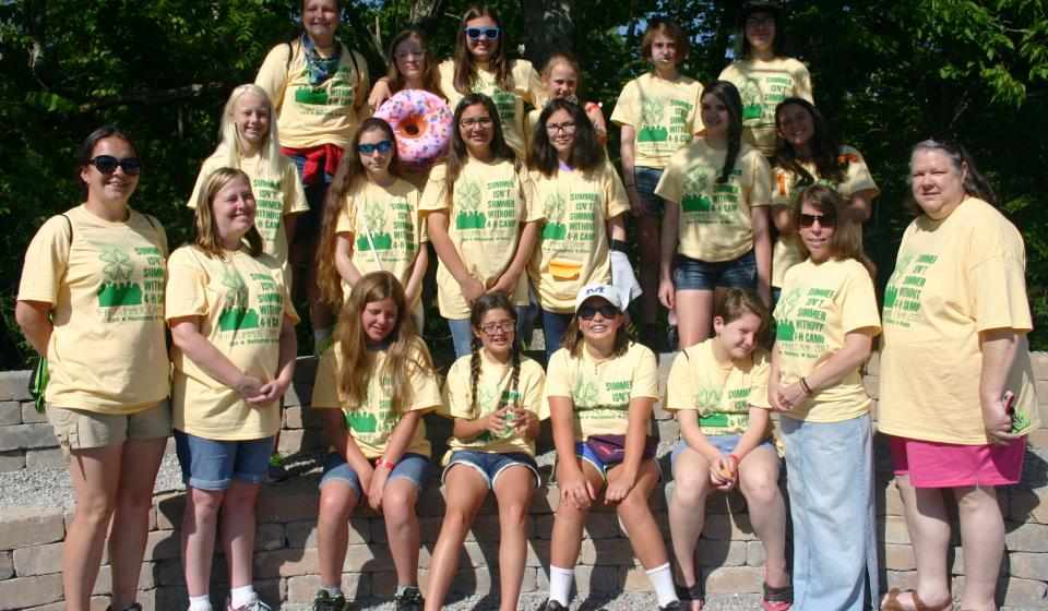 4-H Campers Group 1