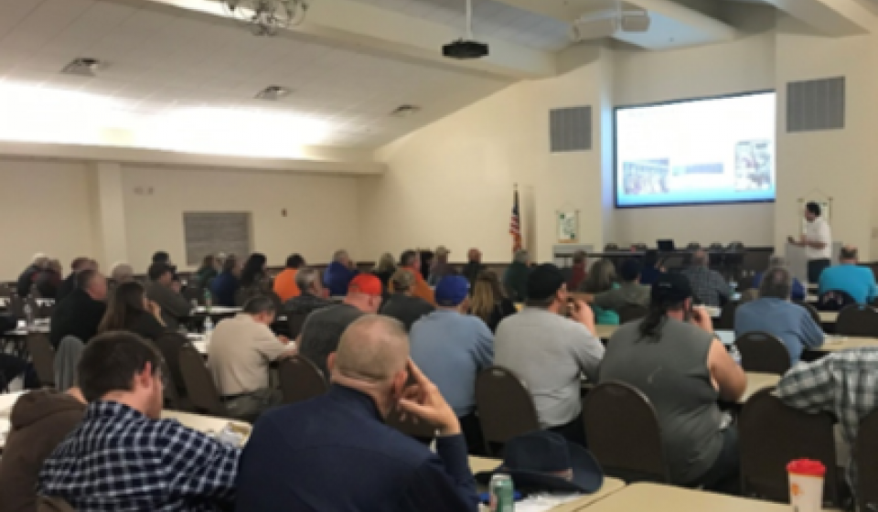 Regional Wildlife meeting held at the Extension Education Center.