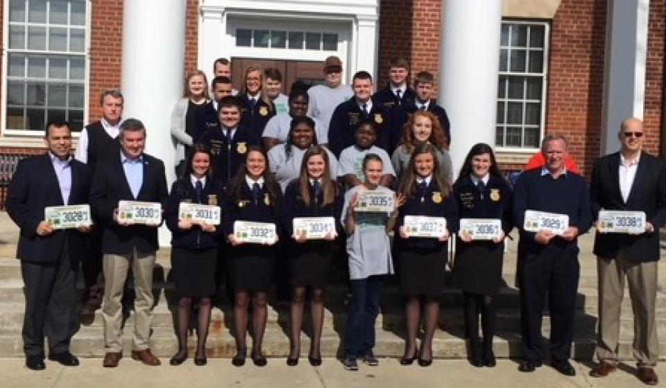 License Tag Promotion for 4-H & FFA